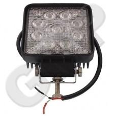 Lampa Robocza LED 12V / 24V PROSTOKĄTNA 12V / 24V Wymiary 109x109 mm LED 9x3W