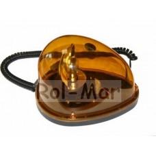Lampa Ostrzegawcza Błyskowa 12V magnes + żarówka OWAL