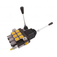 Rozdzielacz hydrauliczny 3-sekcyjny max przepływ 40L (2 sekcje x 1 dźwignia + 1 sekcja x 1 dźwignia) Waryński