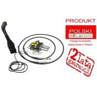 Rozdzielacz 2-sekcyjny na linki Waryński + Joystick na kulki + linki (2 metry linki)