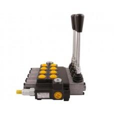 Rozdzielacz hydrauliczny 4-sekcyjny max przepływ 40L (1 sekcja z zatrzaskiem) Waryński