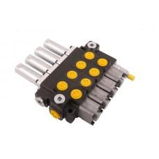 Rozdzielacz hydrauliczny 4-sekcyjny max przepływ 40L sterowany linkami Waryński