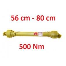 Wał przegubowo teleskopowy 56 cm do 80 cm 500Nm GMP