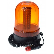 LAMPA OSTRZEGAWCZA BŁYSKOWA KOGUT LED 12V / 24V MAGNES + zasilanie zapalniczka