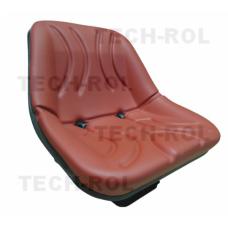 Siedzenie amortyzowane jednoczęściowe czerwone do C-330, C-360 UNIWERSALNE