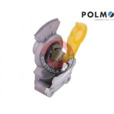 Złącze przewodów powietrza Ciągnik Przyczepa dwuobwodowe (twarde bez zaworu) x501200 Euro 22x1.5 Żółte POLMO