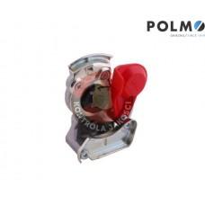 Złącze powietrza miękkie z zaworem czerwone dwuobwodowe 22x1.5 POLMO
