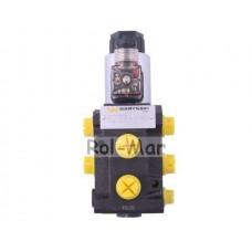 """Dzielnik, zawór, elektrozawór kierunkowy elektromagnetyczny kontroli W-E38DVS6/2 (DVS6/50 L/MIN) G3/8"""" 50L Waryński"""