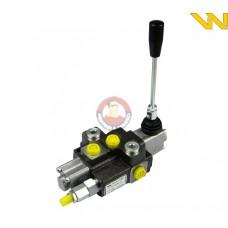 Rozdzielacz hydrauliczny 1-sekcyjny max przepływ 40L z zatrzaskiem Waryński