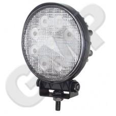 Lampa Robocza LED 12V / 24V Okrągła fi. 116 mm, 9x3W 2400 Lm MOCNA