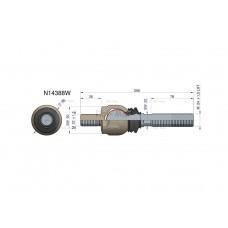 Przegub kierowniczy 208mm - M22x1,5; M24x1,5L N14388 WARYŃSKI