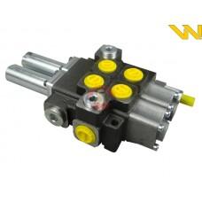 Rozdzielacz hydrauliczny 2-sekcyjny 40L joystick na linki Waryński