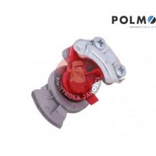 Złącze przewodów powietrza Ciągnik Przyczepa dwuobwodowe (twarde bez zaworu) x501200 Euro 22x1.5 czerwone POLMO