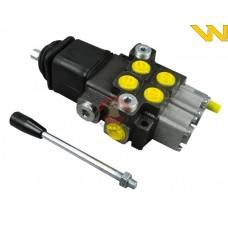 Rozdzielacz hydrauliczny 2-sekcyjny 40L z joystickiem Waryński