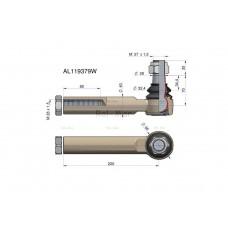 Przegub kierowniczy 220mm- M28x1,5 AL119379 WARYŃSKI