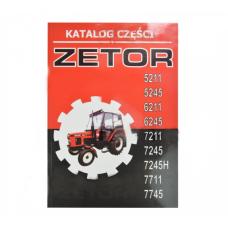 Katalog części zetor 5211-7745 360-stron ,90-tabel 5211-7745 Produkt krajowy