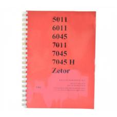 Katalog części Zetor 5011-7045H (3/84), Mod: 5011,6011,6045,7011,7045,7045H; 5011-7045 Produkt Czeski