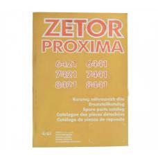 Katalog ZETOR PROXIMA 6421-8441, Modele 6421, 6441, 7421, 7441, 8421,8441 222212475 Zetor Oryginał