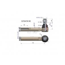 Przegub kierowniczy 173mm- M18x1,5L 137047A1 WARYŃSKI