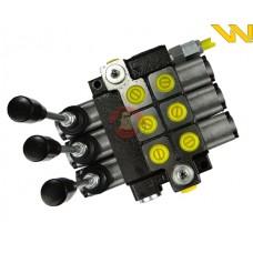 Rozdzielacz hydrauliczny 3-sekcyjny max przepływ 40L Waryński