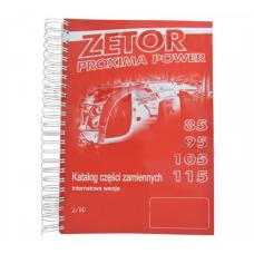 Katalog ZETOR PROXIMA POWER, Modele 85, 95, 105, 115; 222212556 Zetor Oryginał