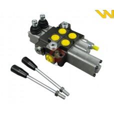 Rozdzielacz hydrauliczny 2-sekcyjny 40L 1-sekcja pływająca Waryński