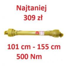 Wał przegubowo teleskopowy 101 cm do 155 cm 500Nm GMP
