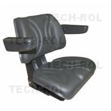 Siedzenie amortyzowane dwuczęściowe czarne do ciągników rolniczych Z PODŁOKIETNIKAMI