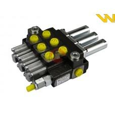 Rozdzielacz hydrauliczny 3-sekcyjny 40L sterowany na linkę Waryński