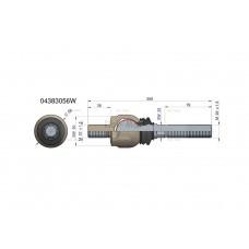 Przegub kierowniczy 209mm- M22x1,5; M22x1,5 04383056 WARYŃSKI