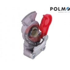 Złącze przewodów powietrza Ciągnik Przyczepa dwuobwodowe (twarde bez zaworu) x501200 Euro 16x1.5 czerwone POLMO