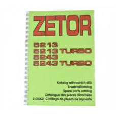 Katalog części Zetor-ogrodnik 5213-5243T Mod: 5213, 5213T, 5243, 5243T;(2/2002) 222212365 Produkt Czeski