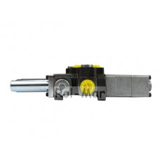 Rozdzielacz hydrauliczny 2-sekcyjny max przepływ 40L 1-sekcja pływająca - sterowany na linkę Waryński